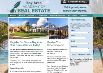 Bay Area Academy of Real Estate - Real Estate License School and Classes - Tampa, Saint Petersburg, Clearwater Florida